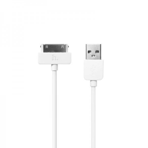 Кабель USB (тато) = Lightning (тато) 1м Hoco X1 Rapid iPhone 4 White