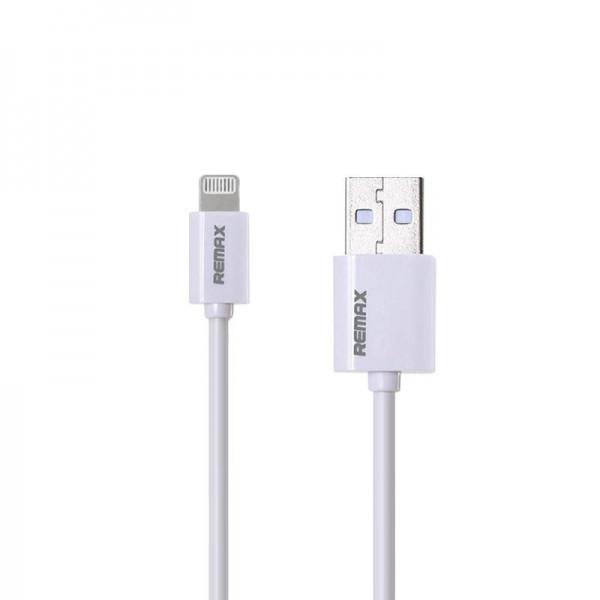 Кабель USB (папа) = Lightning (папа) 1м Remax (OR) Fast RC-007i White