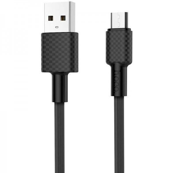 Кабель USB (тато) = microUSB (тато) 1м Hoco X29 Superior Black
