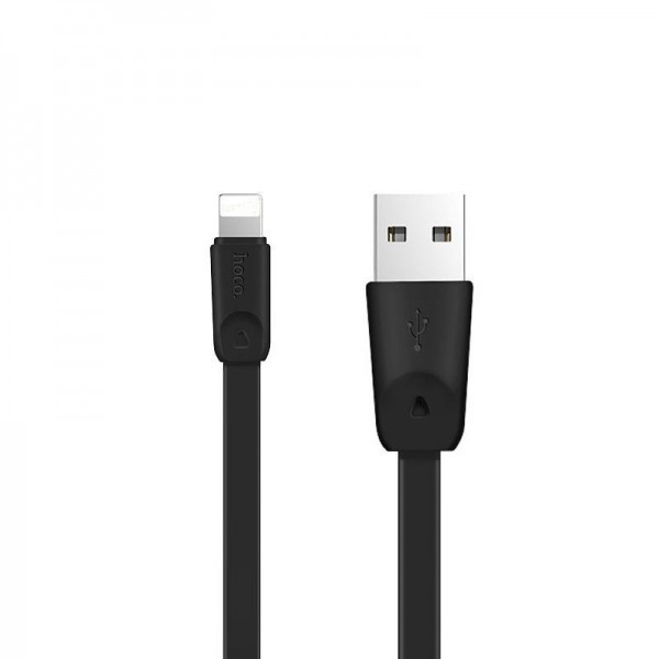Кабель USB (папа) = Lightning (папа) 1м Hoco X9 High Speed Black