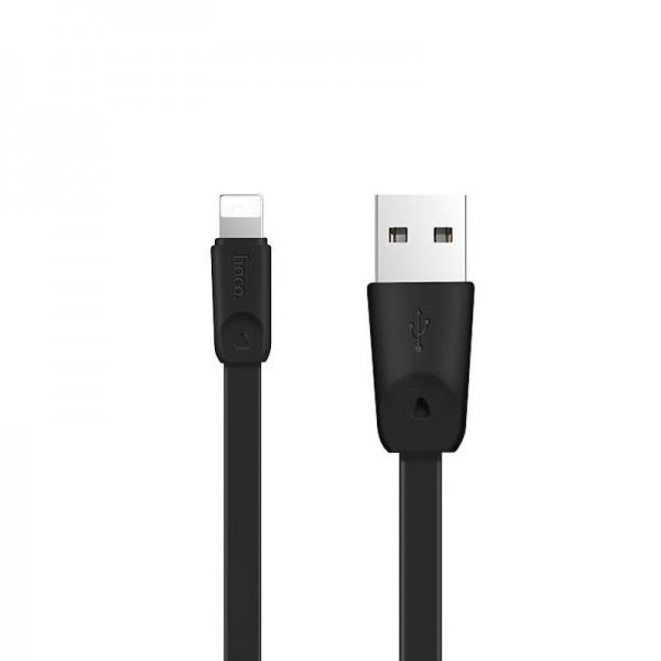 Кабель USB (тато) = Lightning (тато) 1м Hoco X9 High Speed Black