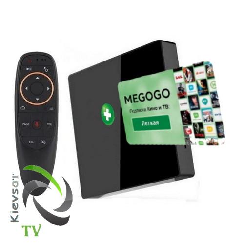 TV BOX  light    2 16 Gb + MEGOGO Кино  и ТВ + пульт G10S ( Микрофон Air Mouse Гироскоп )