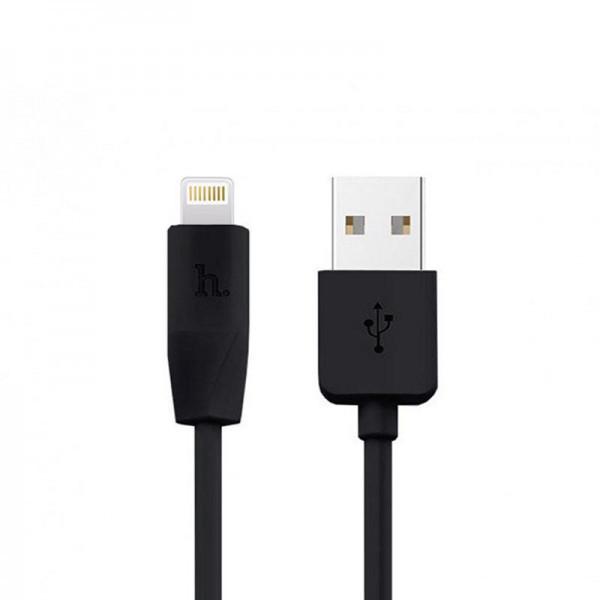 Кабель USB (тато) = Lightning (тато) 1м Hoco X1 Rapid Black