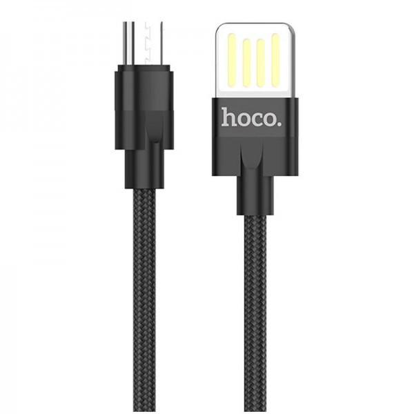 Кабель USB (тато) = microUSB (тато) 1м Hoco U55 Outstanding Black
