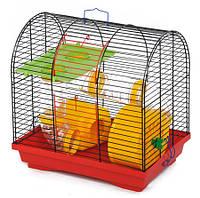 Клітка Бунгало-2 люкс для гризунів, цільна з аксесуарами, 335х230х365мм, цинк Кц 009