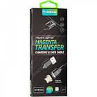 Кабель USB (тато) = microUSB (тато) Gelius Pro Magenta Transfer GP-MC-03m Black, фото 4
