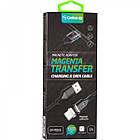 Кабель USB (папа) = USB type C (папа) Gelius Pro Magenta Transfer GP-MC-03c Black, фото 4