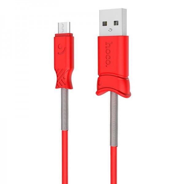 Кабель USB (папа) = microUSB (папа) 1м Hoco X24 Pisces Red