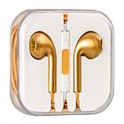 Навушники вкладиші провідні HF iPhone 5 Gold з регулятором гучності, фото 2