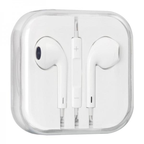 Навушники вкладиші провідні HF AAA iPhone 5 White з регулятором гучності
