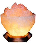 Соляная лампа, светильник Чаша Огня (4-5 кг) с цветной лампой