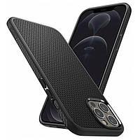 Ударопрочный чехол Spigen Liquid Air Black для iPhone 12 Pro/12