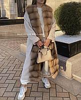 Пальто 3в1 з хутром норки