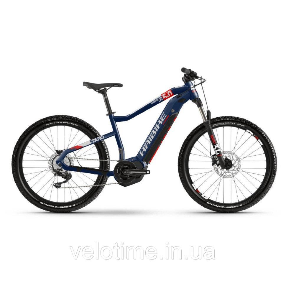 Haibike SDURO HardSeven Life 5.0 i500Wh 10 s. Deore 27.5 2020 (S, синий-красный-белый)