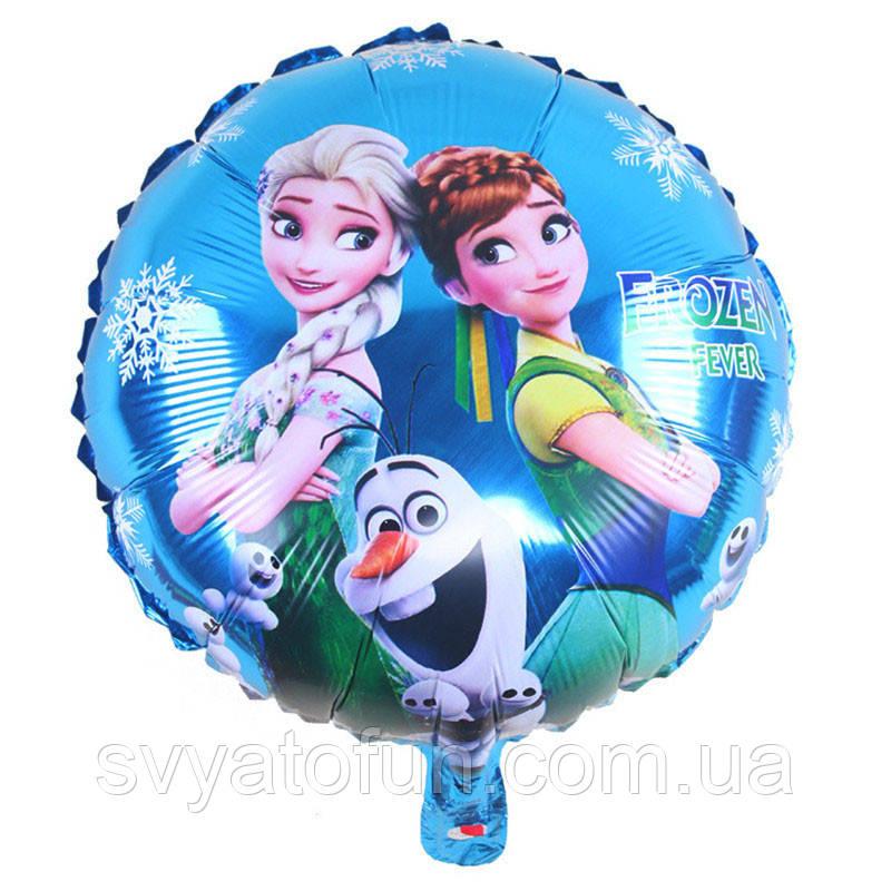 """Фольгований куля коло Холодне серце 18"""" Китай"""