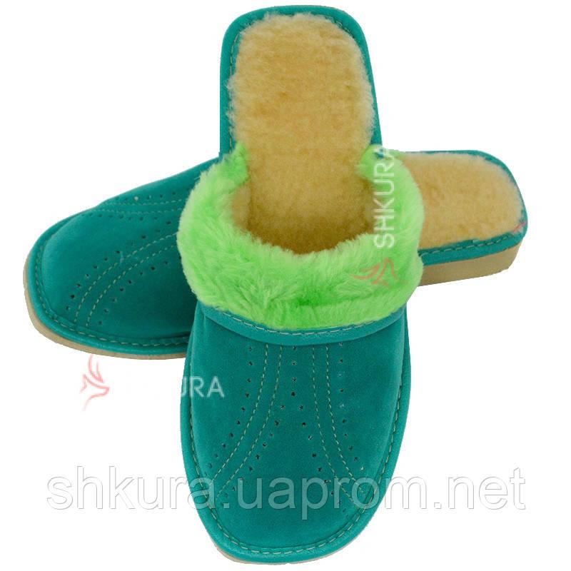 Тапочки жіночі зимові, ЗВО8. Зелені