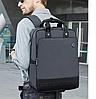 Городской рюкзак - сумка для ноутбука 15.6 Arctic Hunter B00398 деловой портфель (Gray), фото 2