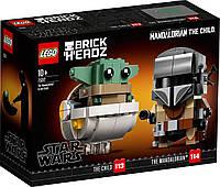 Lego BrickHeadz Мандалорец и малыш Лего Стар Варс 75317
