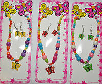 Комплекты детской бижутерии - бабочки (6 комплектов)