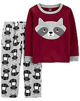 Флисовая пижама для мальчика Carters Енот