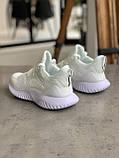 Кроссовки Adidas Alphabounce Instinct White Адидас Альфабаунс Инстинкт Белые (41,42,43,44,45), фото 6