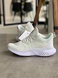 Кроссовки Adidas Alphabounce Instinct White Адидас Альфабаунс Инстинкт Белые (41,42,43,44,45), фото 7