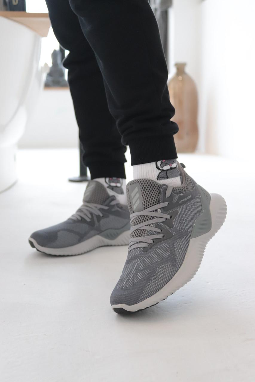 Кроссовки Adidas Alphabounce Instinct Grey Адидас Альфабаунс Инстинкт Серые (41,42,43,44,45)