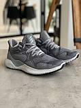 Кроссовки Adidas Alphabounce Instinct Grey Адидас Альфабаунс Инстинкт Серые (41,42,43,44,45), фото 4