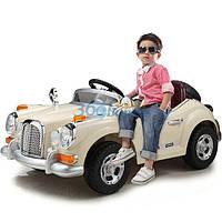 Детский электромобиль Mercedes Benz 128 RETRO - купить оптом детские электромобили Бежевый, фото 1