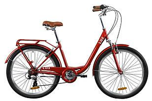"""Велосипед 26"""" Dorozhnik LUX AM 2020 (рубиновый)"""