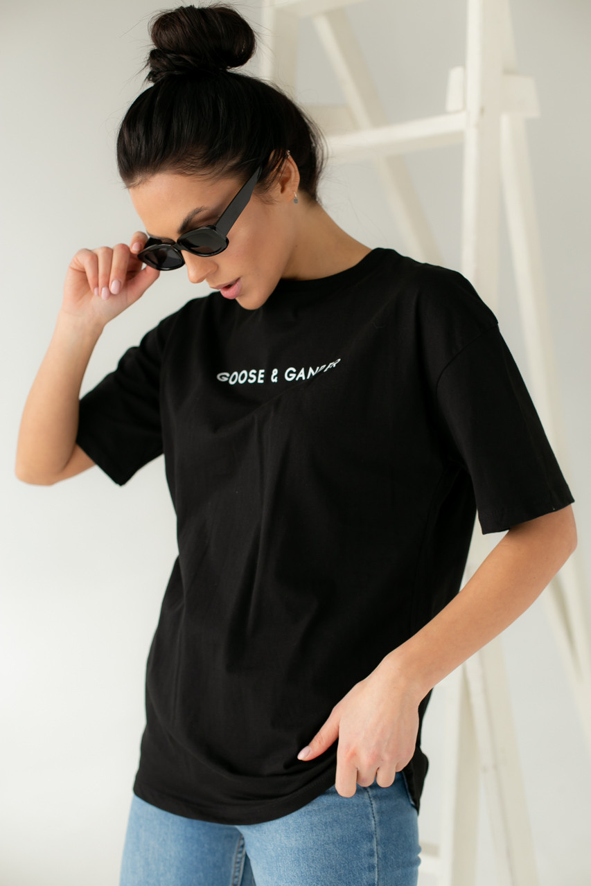 Хлопковая футболка с надписью Enjoy Carnavale - черный цвет, S (есть размеры)
