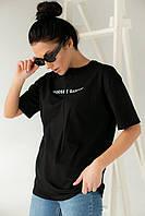 Хлопковая футболка с надписью Enjoy Carnavale - черный цвет, S (есть размеры), фото 1