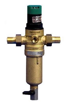 Самопромывной фильтр с манометром и редуктором давления 1/2 Honeywell (холодный)