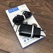 Зарядное устройство Hoco C12Q сетевой адаптер для зарядки телефона 2 3 ампера быстрая зарядка micro usb микро
