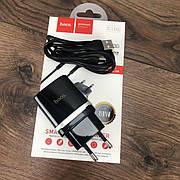 Зарядное устройство Hoco C12Q сетевой адаптер для зарядки телефона 2 3 ампера быстрая зарядка type c тайп си