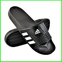 Мужские Шлёпанцы Тапочки ADIDAS Сланцы Адидас Чёрные (размеры: 40)