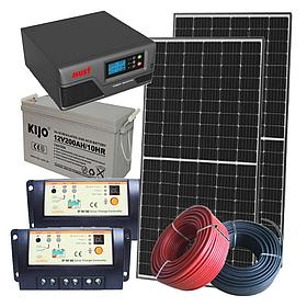 1 кВт автономная солнечная электростанция Sola с инвертором 1000 Вт и резерв в АКБ 2400 Вт
