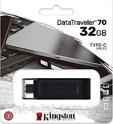 Флеш-пам'ять USB Kingston DataTraveler 70 32GB USB Type-C (DT70/32GB)
