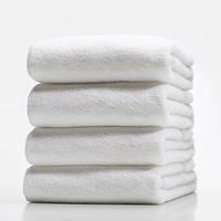 Белое махровое полотенце 50х90 LOTUS  отель BASIC  500 г/м2