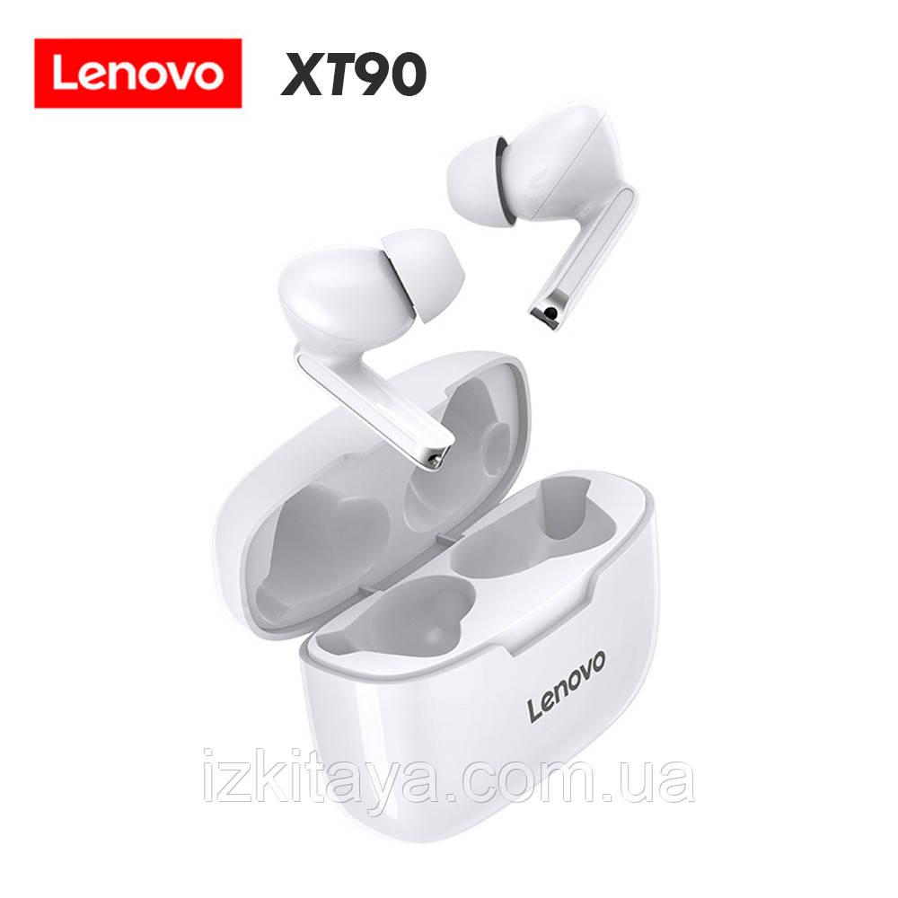 Бездротові навушники Lenovo XT90 white Bluetooth навушники з блютузом