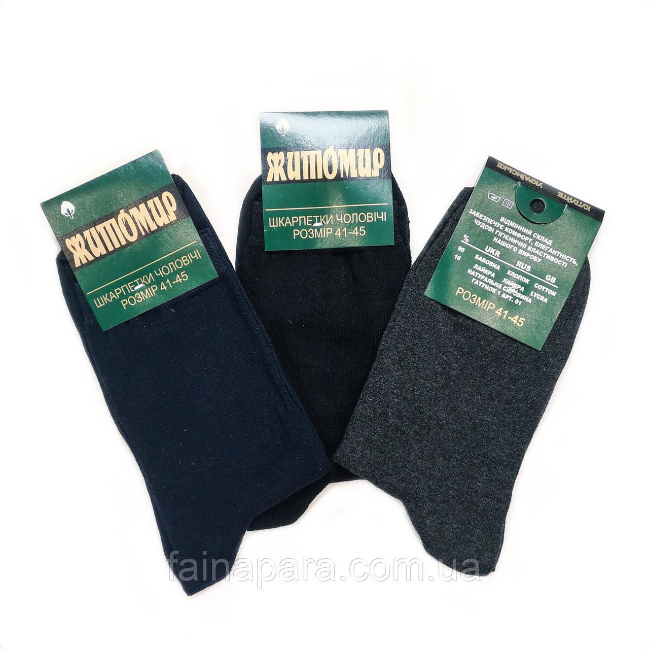 Мужские демисезонные хлопковые носки Житомир