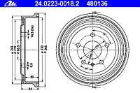 АНАЛОГ для Opel 568060 0568060 GM 90538928 Барабан тормозной задний ZIMMERMANN 01-3005680060-A 0568060 OPEL ASTRA-G ZAFIRA-A VECTRA-B Dello 3005680060
