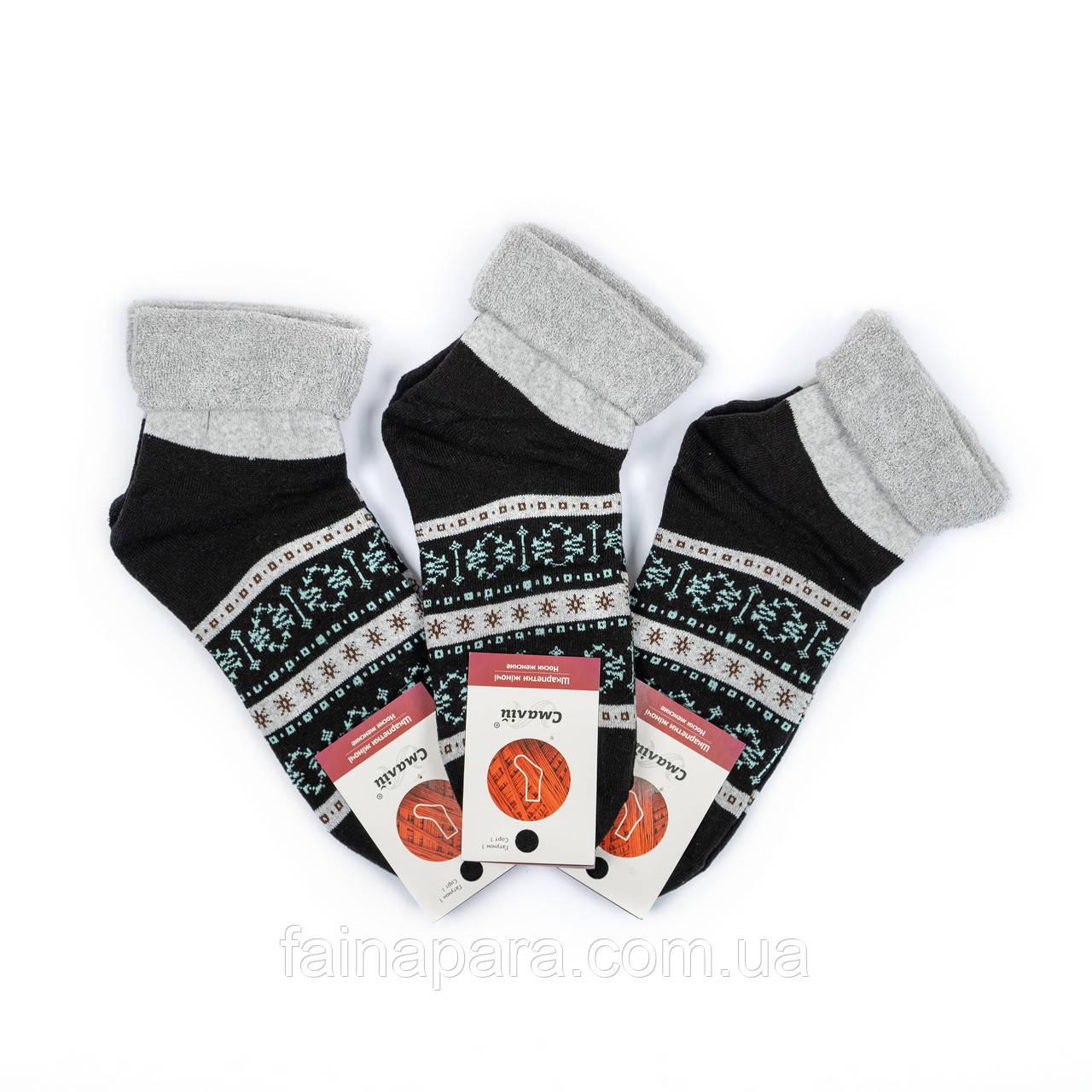 Женские махровые носки с орнаментом