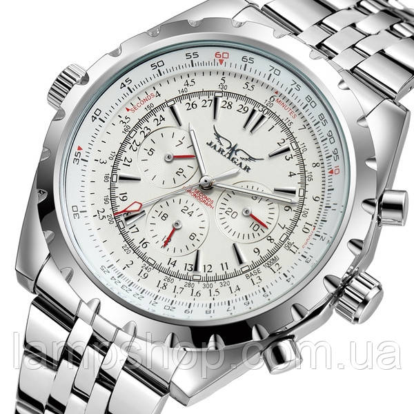 Jaragar Мужские часы Jaragar Steel White