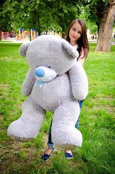 Плюшевий Ведмедик Бойд 160 см Сірий