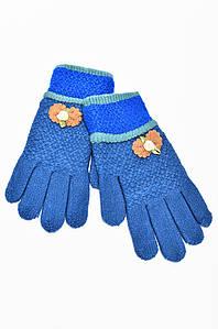 Перчатки подросток бантик темно-синие 113441P