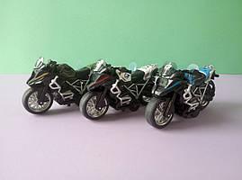 Ігровий Спортивний Мотоцикл звук інерція металопластик різні кольори