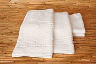 Белое махровое полотенце под ноги 50х70 LOTUS  отель Basic ножки 600