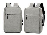 Рюкзак городской JinDian с USB, фото 3