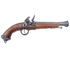 Пиратский кремневый пистолет, Италия, XVIII в. Коллекционное оружие! (DA)